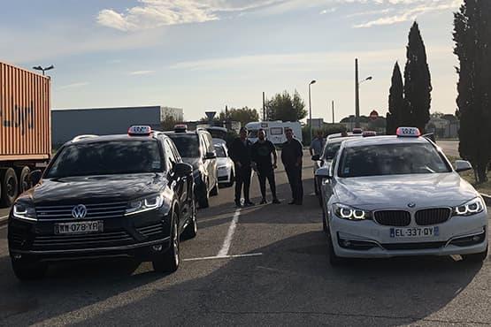 Une équipe de chauffeurs de taxi professionnels à Istres dans les Bouches-du-Rhône